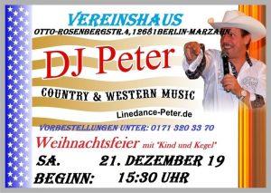 Weihnachtsfeier mit DJ Peter