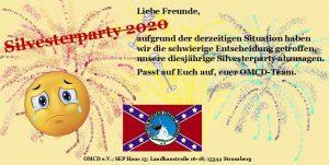 Silvester Veranstaltung OMCD in Strausberg fällt